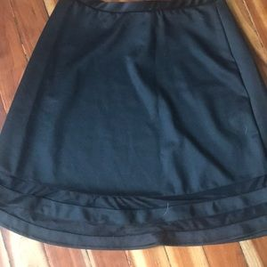 2 for $20❤️NWOT BLACK SKIRT WITH SHEER HEM DETAILS
